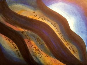 """a map begins"" by Vonda Drees"