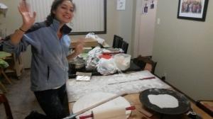 Allison making Lefse