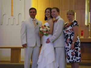 My Smiling Dad (and mom) and Allison's and my wedding day.