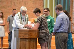 God's truth and justice breaking into the world through baptism, in this case, the baptism of our Godson.