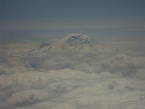 Mt. Rainier, as seen on one of my many flights over the years by it.