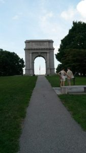An arch, but also an open gate at Valley Forge (as visited by Allison and some of my family a little over a year ago).