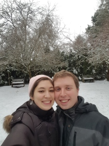 Happy New Year's from the surprising snow in Western Washington!
