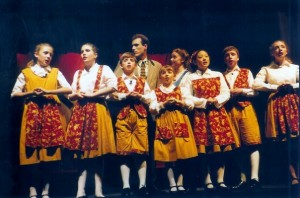 The Von Trapp family in Sound of Music