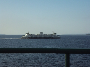 Sometimes it takes heart just to keep going, like to keep going on the ferry on Puget Sound.