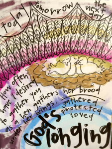 """Under Her Wings"" by Vonda Drees, based on this past weekend's appointed gospel text from Luke 13:31-35."