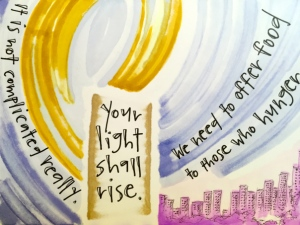 """Your light shall rise"" by Vonda Drees."