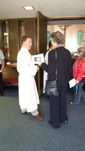 In meeting and greeting following worship, I heard from this woman that she has family in Poulsbo.