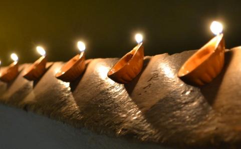 lamps burning